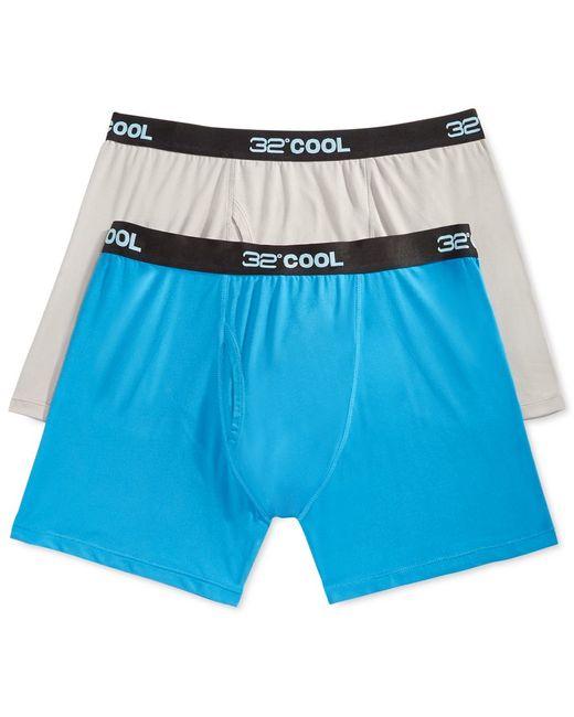 32 Degrees | Gray Cool Men's Boxer Briefs, 2 Pack for Men | Lyst