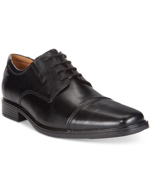 Clarks Men S Tilden Cap Toe Dress Shoes In Black For Men