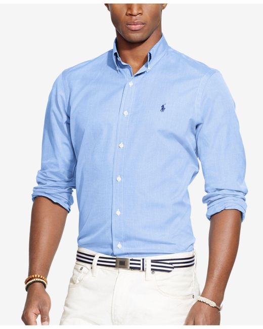 Polo Ralph Lauren | Blue End-on-end Poplin Shirt for Men | Lyst