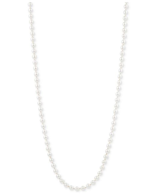 Anne Klein   White Gold-tone Imitation Pearl Long Length Necklace   Lyst