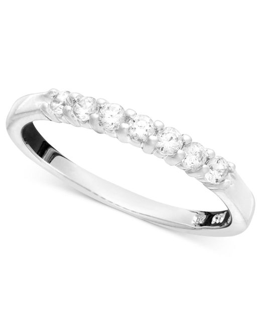 Macy's   Metallic Seven Diamond Band Ring In 14k Gold (1/4 Ct. T.w.)   Lyst