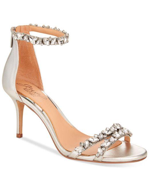 Badgley Mischka - Metallic Caroline Ankle-strap Evening Sandals - Lyst