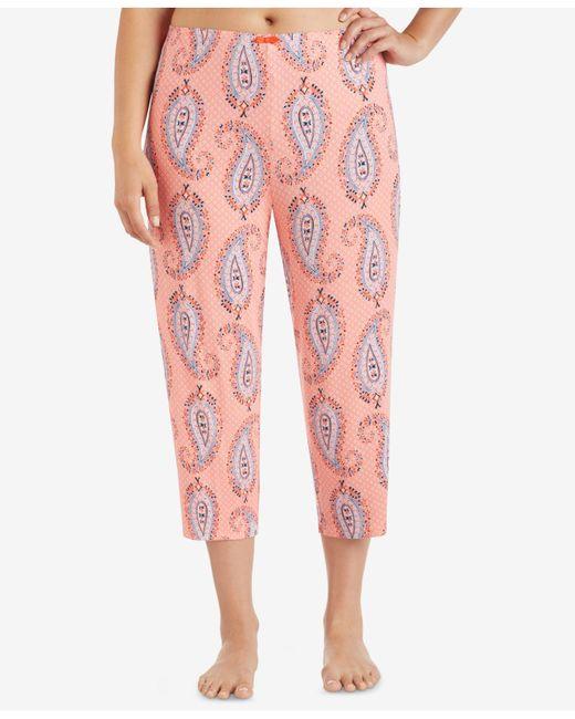 Ellen Tracy | Pink Plus Size Cropped Wide-leg Pajama Pants | Lyst