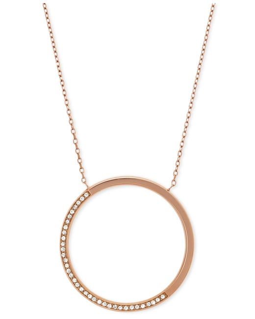 Michael Kors | Metallic Pave Drop Necklace | Lyst