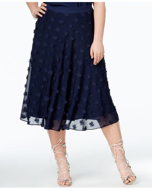 roy curvy plus size floral a line skirt in