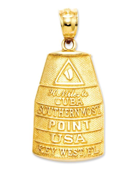 Macy's - Metallic 14k Gold Charm, Southern Most Point Usa Key West Charm - Lyst