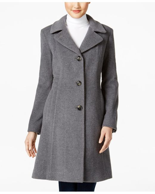 Anne Klein Wool Cashmere Blend Walker Coat Only At Macy S