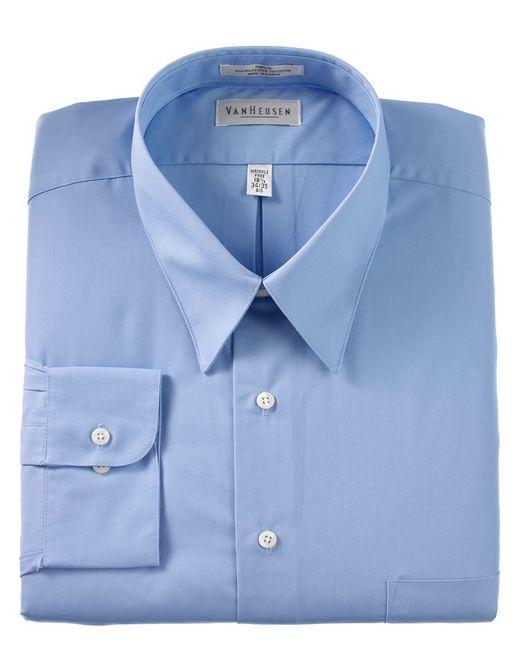 van heusen big and tall wrinkle free poplin dress shirt in