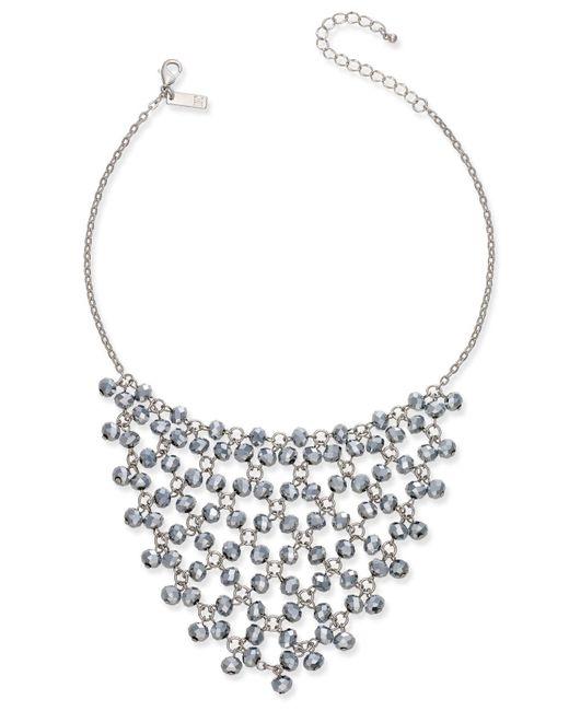 INC International Concepts | Metallic Silver-tone Hematite Bead Statement Necklace | Lyst