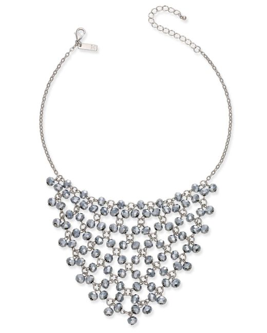 INC International Concepts | Metallic Silver-tone Hematite Bead Statement Necklace | Lyst