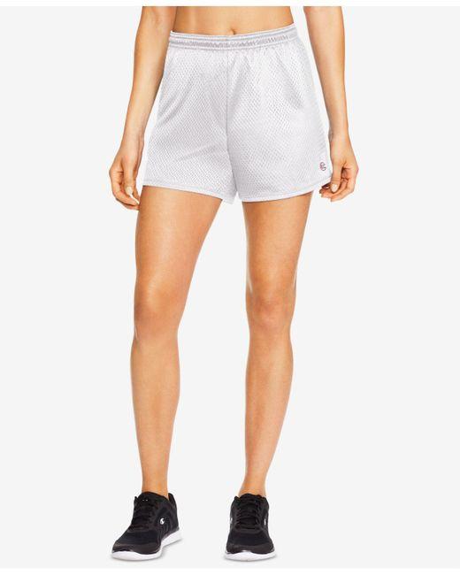 Champion - White Mesh Shorts - Lyst