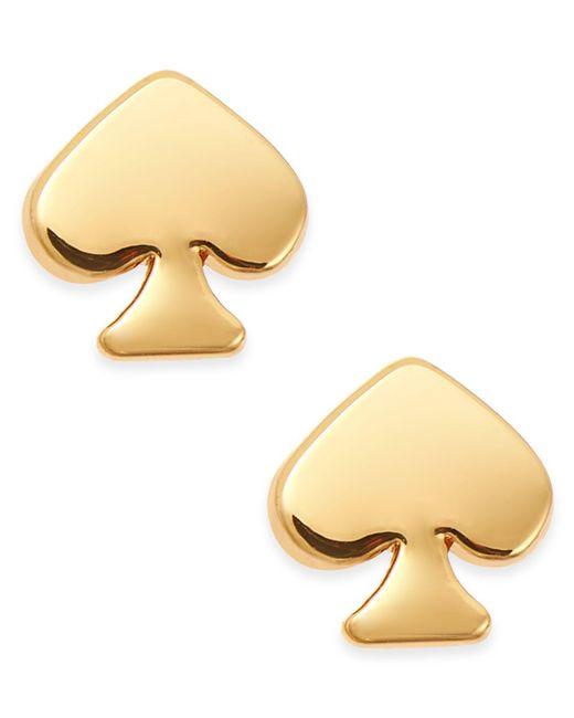 Kate Spade   Metallic Signature Spade Gold-tone Stud Earrings   Lyst