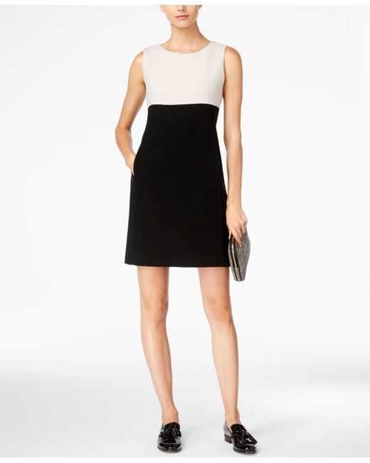 max mara weekend max mara colorblocked shift dress in. Black Bedroom Furniture Sets. Home Design Ideas