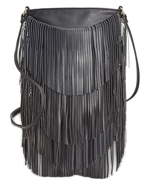 INC International Concepts | Black Fringe Crossbody | Lyst
