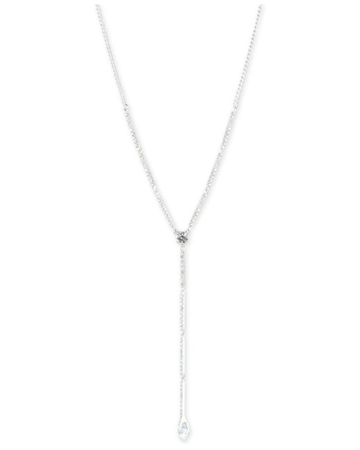 """Givenchy Metallic Crystal Lariat Necklace, 16""""' + 3"""" Extender"""
