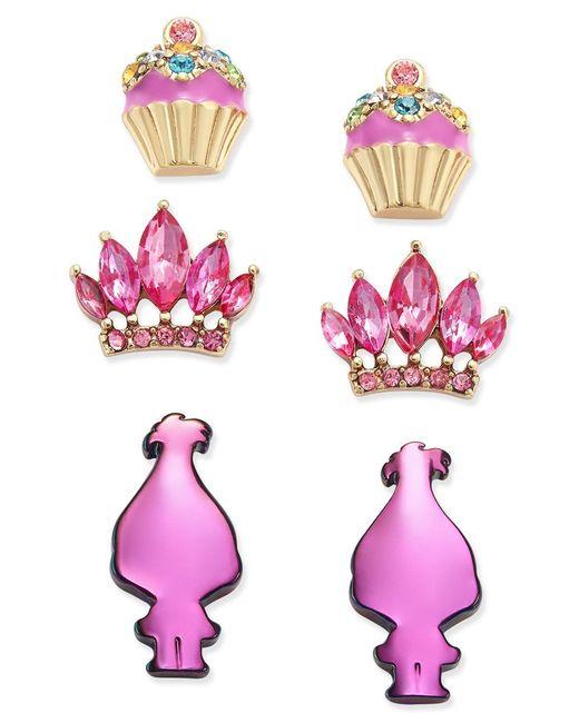 Betsey Johnson | Metallic Spring Glam Butterfly Button Earrings | Lyst