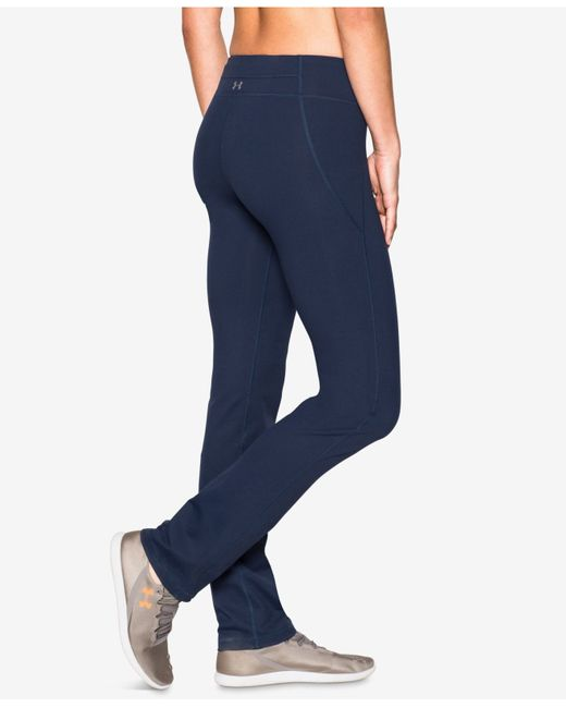 Under Armour Studiolux Yoga Pants In Blue (Navy Seal)