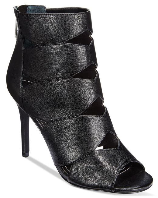 Charles by Charles David | Black Reform Cutout Dress Booties | Lyst