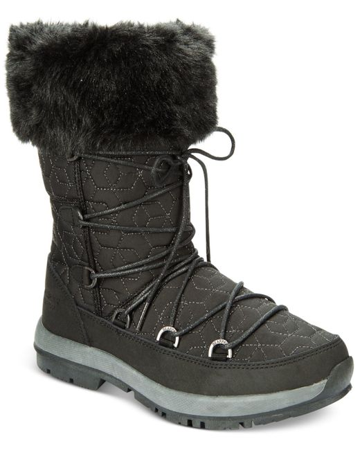 BEARPAW | Black Women's Leslie Lace-up Cold-weather Boots | Lyst
