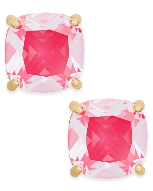 Kate Spade | Pink Gold-tone Aqua Crystal Stud Earrings | Lyst