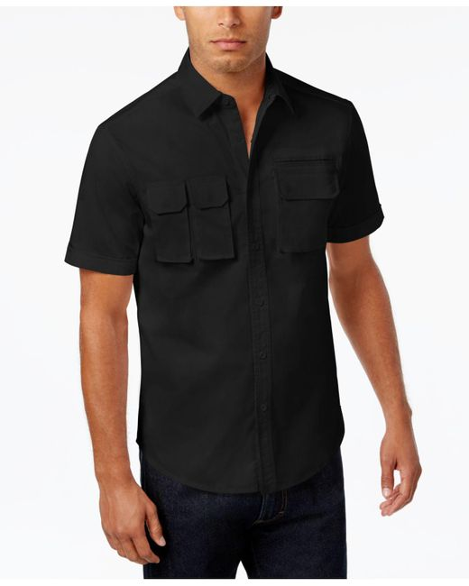 Sean John - Black Men's Multi-pocket Cotton Shirt for Men - Lyst