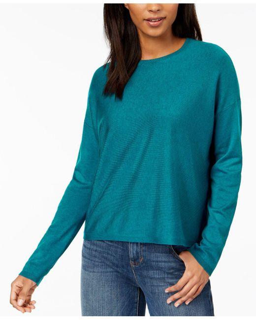 Eileen Fisher - Blue ® Crew-neck Sweater - Lyst
