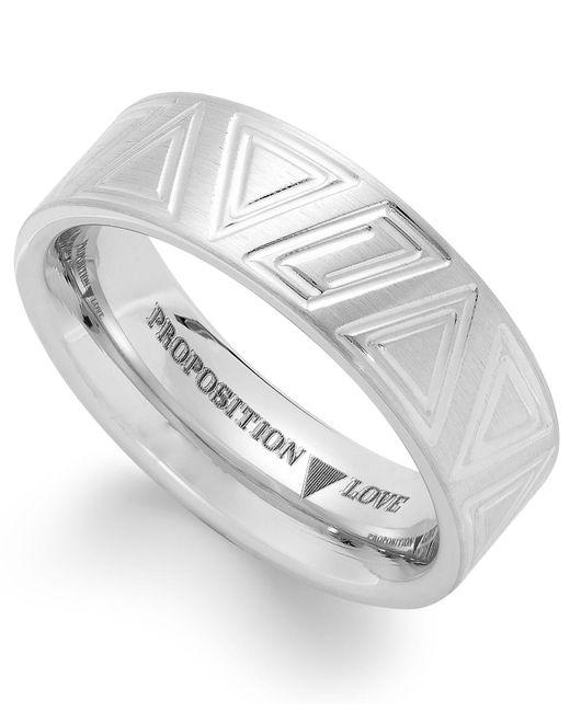 Proposition Love - Metallic Cobalt Triangle Motif Ring - Lyst