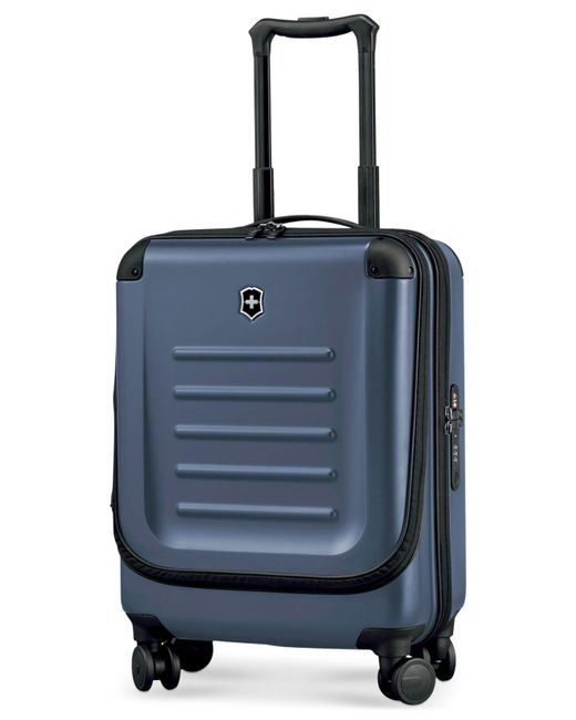 "Victorinox - Blue Suitcase, 21"" Spectra 2.0 Rolling Hardside Extra Capacity Dual Access Carry On Spinner Upright - Lyst"