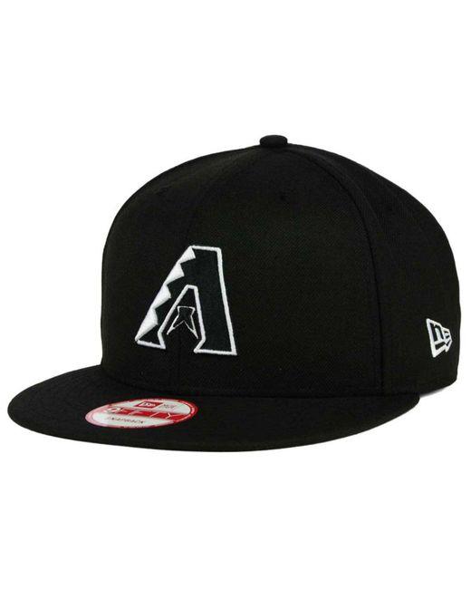 KTZ Black Arizona Diamondbacks B-dub 9fifty Snapback Cap for men