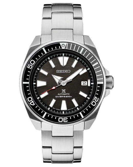 Seiko Metallic Automatic Prospex Stainless Steel Bracelet Watch 44mm for men