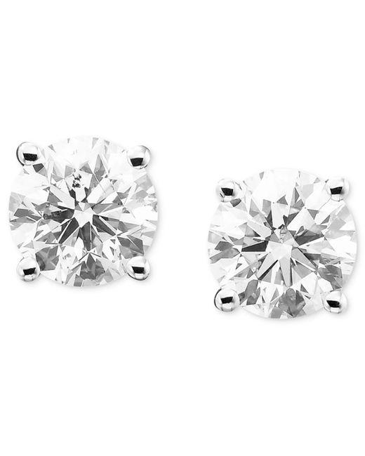 Macy's - Metallic Diamond Stud Earrings (2 Ct. T.w.) In 14k Gold Or White Gold - Lyst