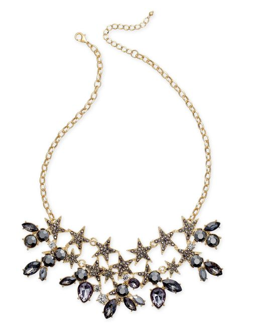 INC International Concepts   Metallic Gold-tone Stone & Crystal Star Statement Necklace   Lyst