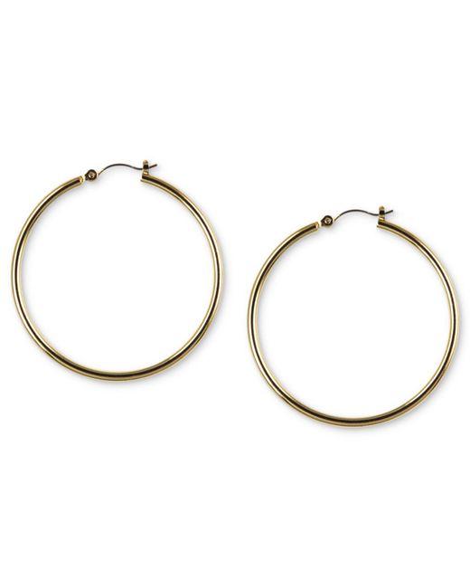 Nine West - Metallic Earrings, Gold-tone Tube Hoop Earrings - Lyst