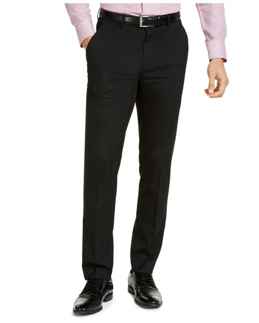 Alfani Black Slim-fit Stretch Solid Suit Pants, Created For Macy's for men