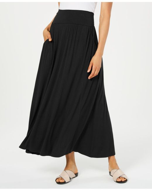 Style & Co. Black Petite Knit Maxi Skirt, Created For Macy's