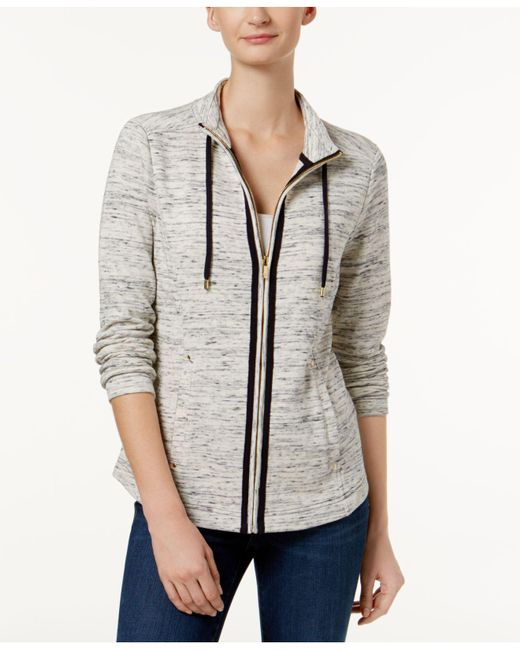Charter Club | Gray Petite Space-dyed Jacket | Lyst