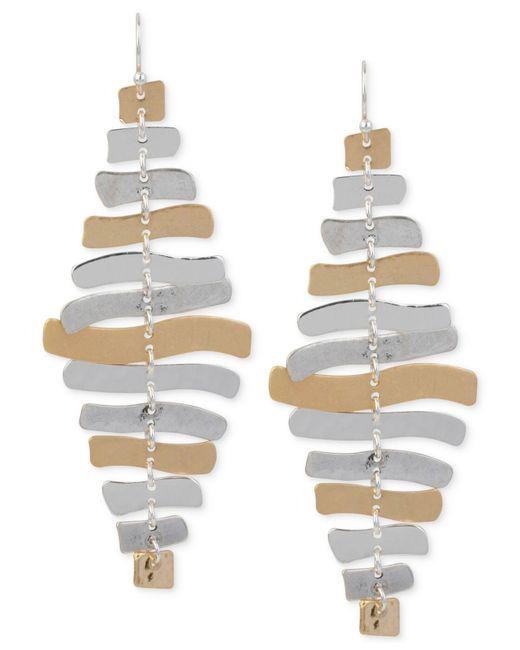 Robert Lee Morris - Metallic Two-tone Sculptural Chandelier Earrings - Lyst