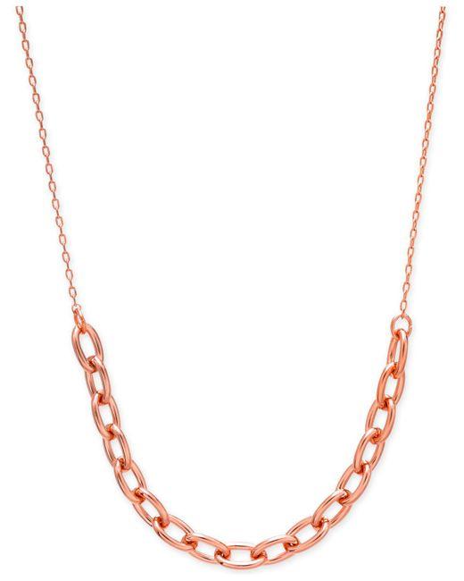 "Kate Spade - Metallic Link Collar Necklace, 17"" + 3"" Extender - Lyst"