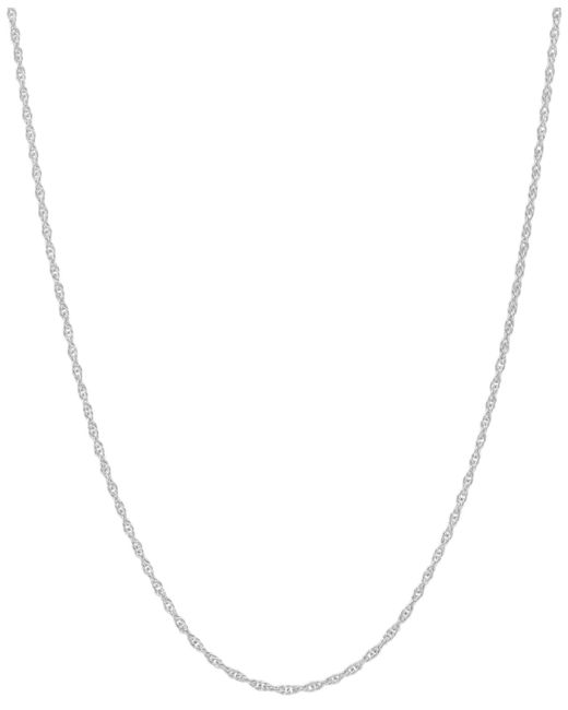 "Macy's - 14k White Gold Necklace (1mm), 18"" Light Rope Chain - Lyst"
