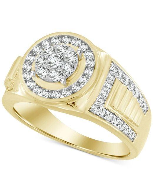 Macy's - Metallic Men's Diamond Ring (1 Ct. T.w.) In 10k Gold - Lyst