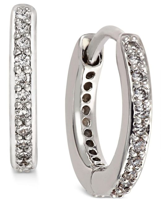 Danori - Metallic Gold-tone Crystal Pavé Huggy Hoop Earrings, Created For Macy's - Lyst