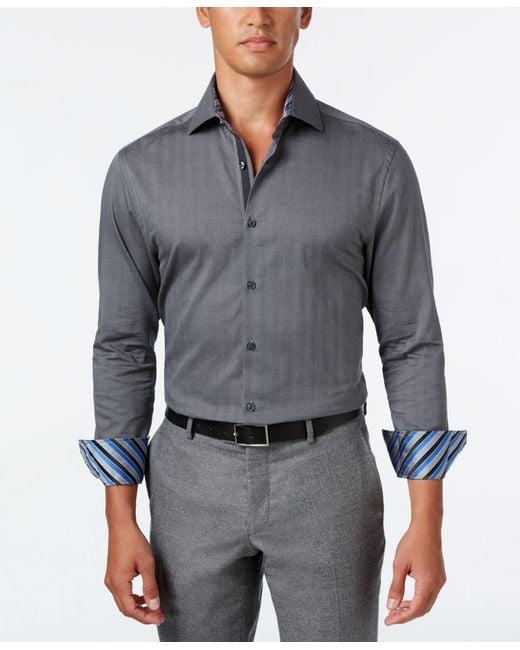Michelsons Of London Of London Men 39 S Slim Fit Grey