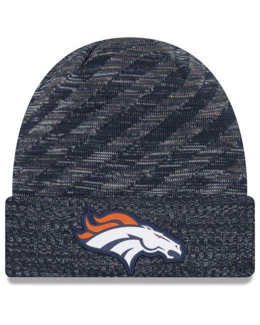 9cd16053010 KTZ - Blue Denver Broncos Touch Down Knit Hat for Men - Lyst ...