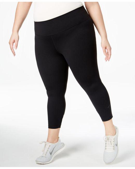 Nike - Black Plus Size Sculpt Lux Cropped Leggings - Lyst