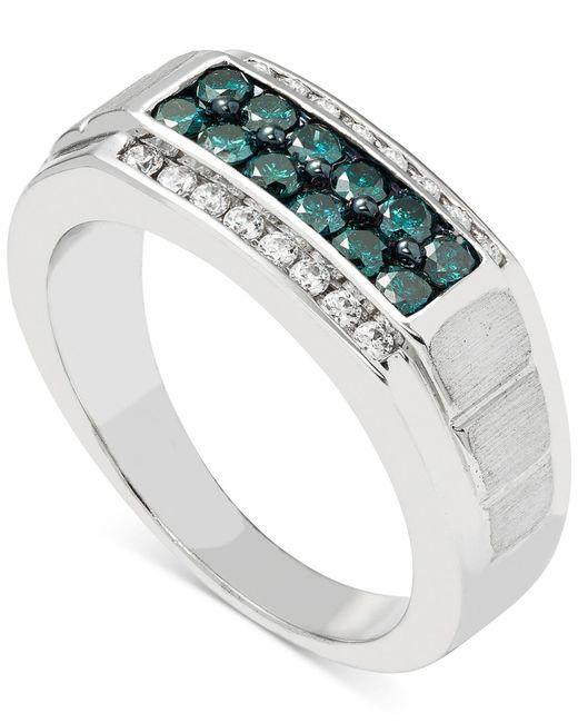 Macy's - Metallic Men's Diamond (1 Ct. T.w.) Ring In 10k White Gold for Men - Lyst