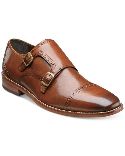 5cd704e3c28 Lyst - Florsheim Men s Castellano Double Monk Loafers in Brown for Men