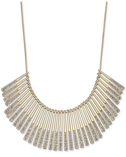 INC International Concepts - Metallic Gold-tone Pavé Statement Necklace - Lyst