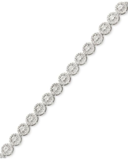 Macy's - Metallic Diamond Miracle Plate Tennis Bracelet (1/2 Ct. T.w.) In Sterling Silver - Lyst