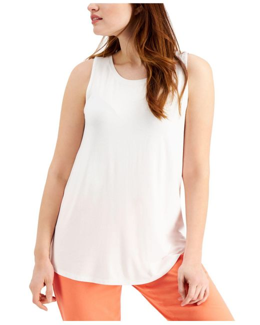 Style & Co. White Swing Tank Top, Created For Macy's
