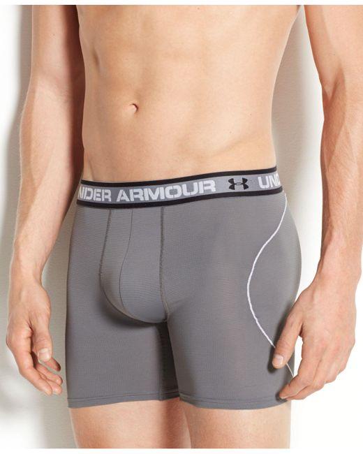Under Armour   Gray Men's Iso-chill 6-inch Boxerjocks for Men   Lyst